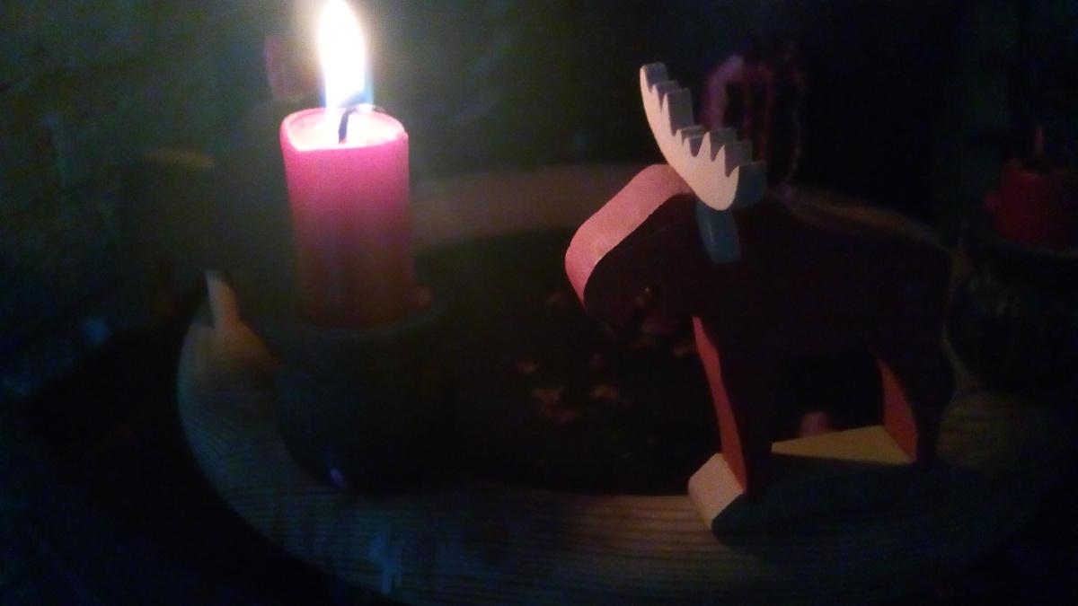 zwei Kerzlein brennen