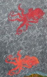 Oktopus rotgelb